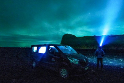 Northern Lights by camper, Iceland