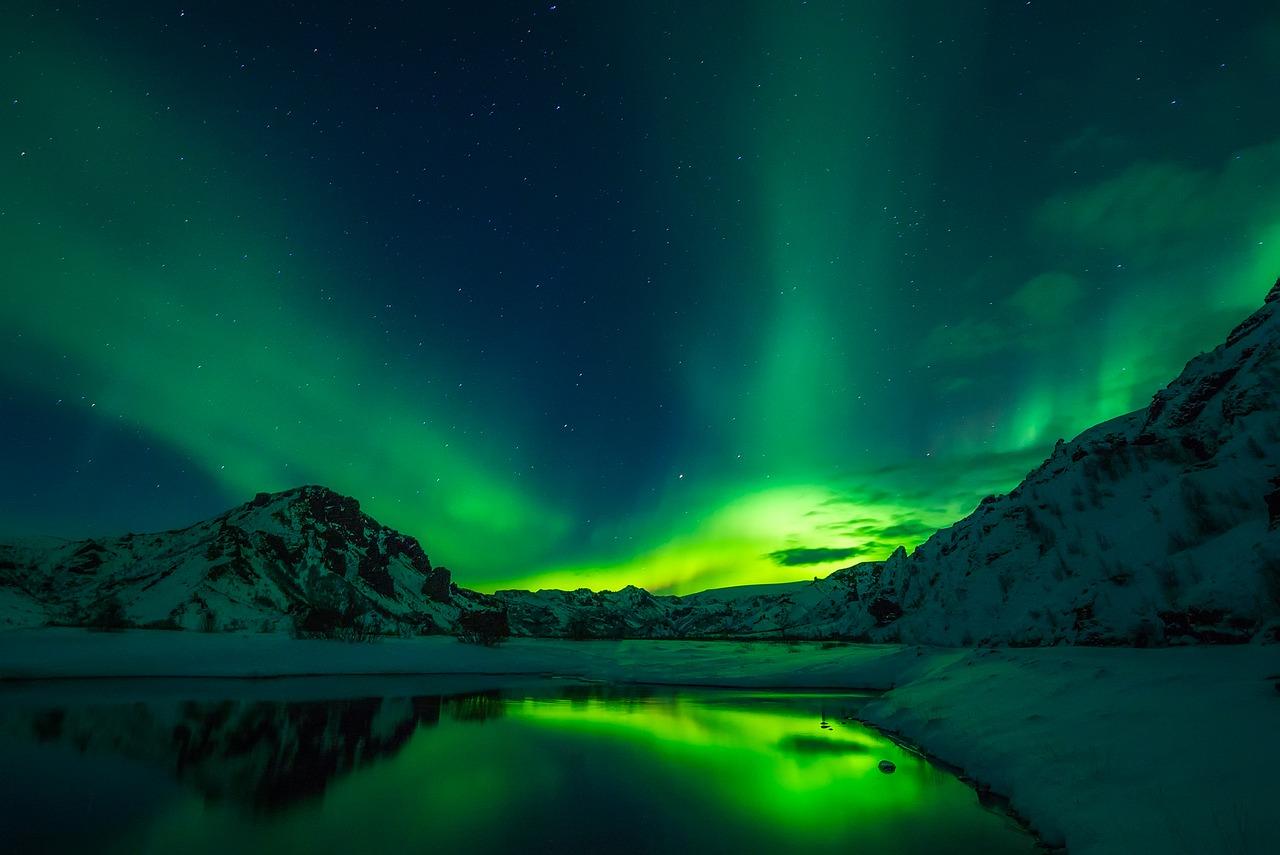 Northern lights hunt in Iceland - campers