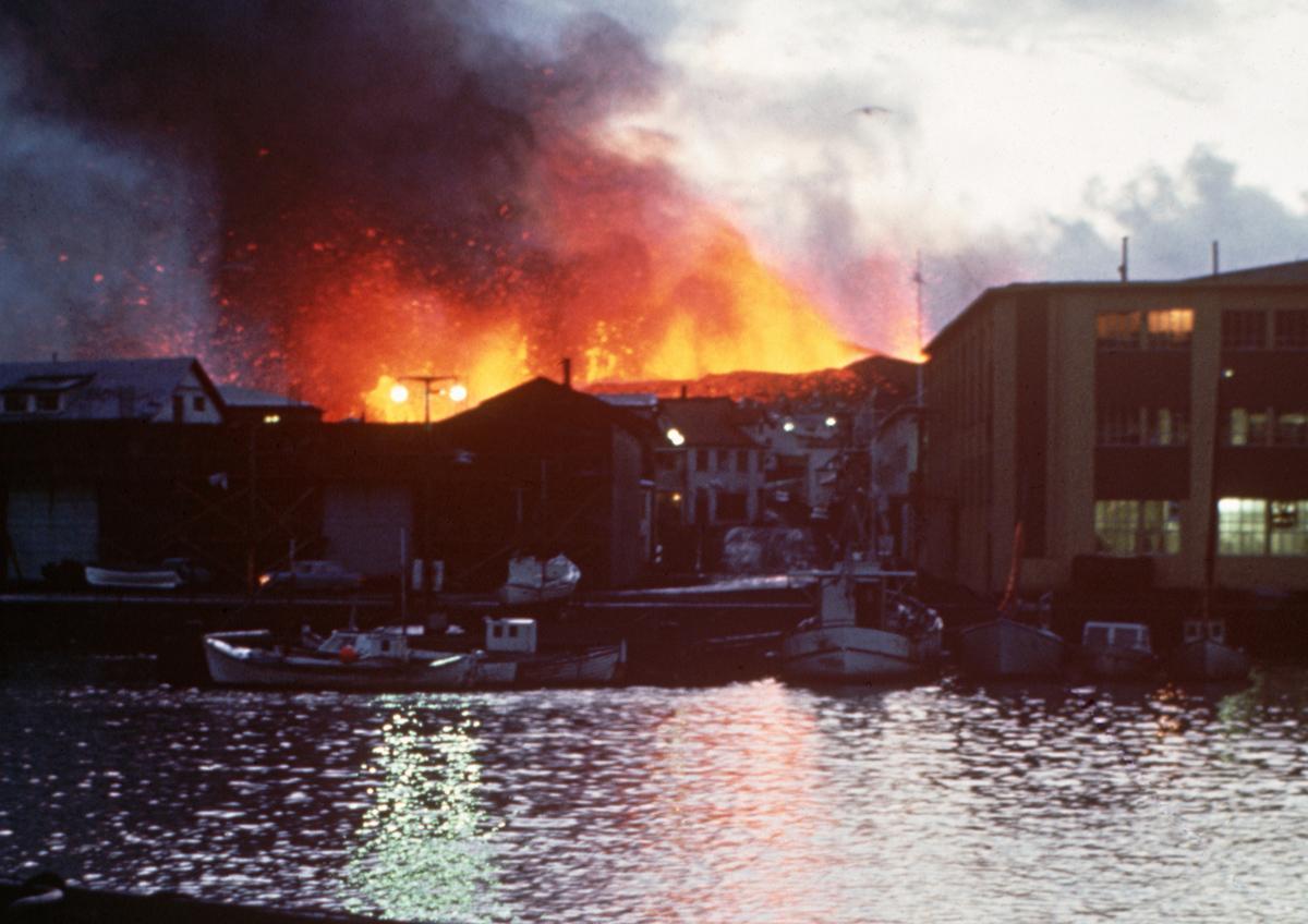 Vestmannaeyjar eruption 1973