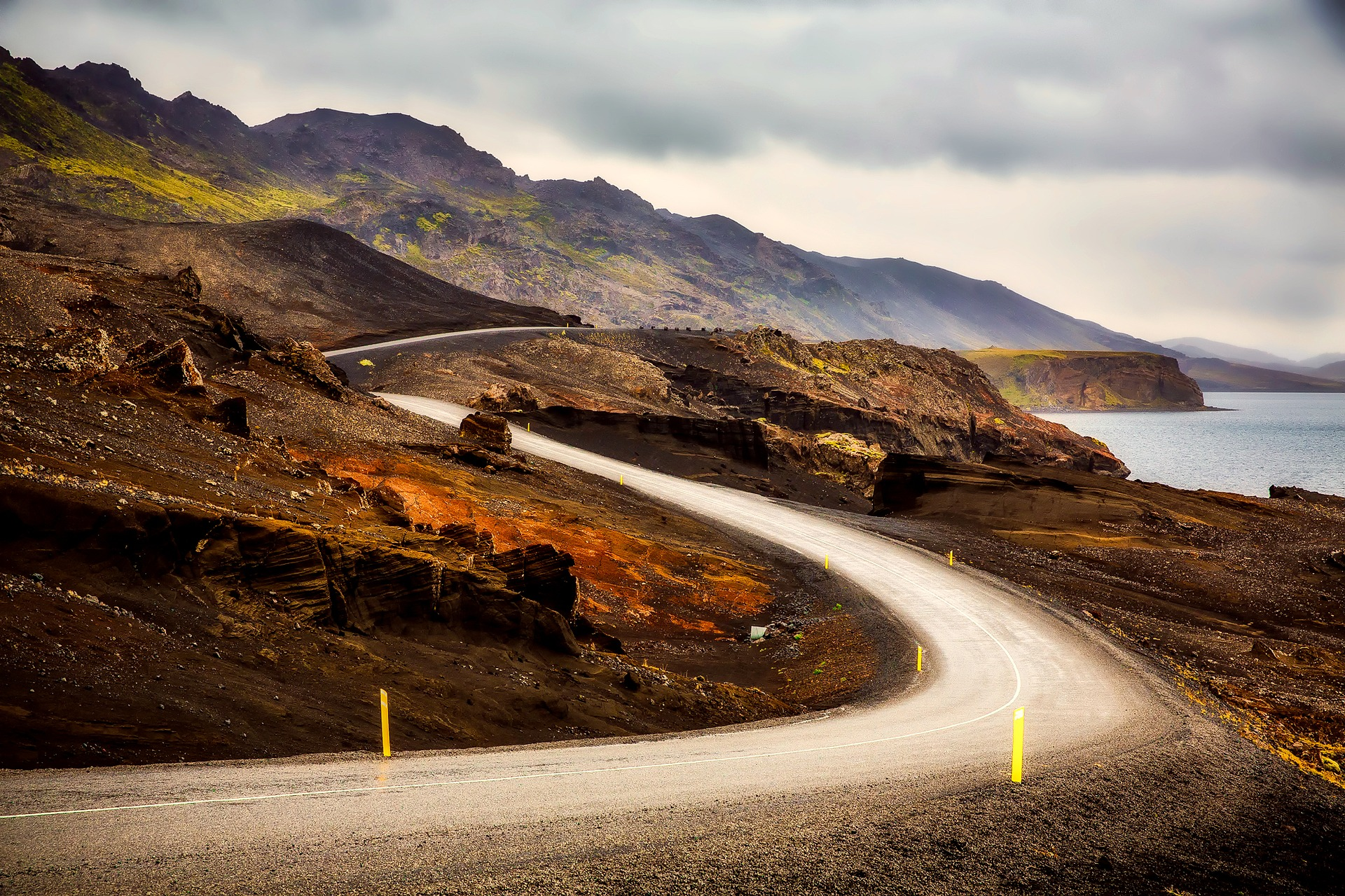 iceland, nature, road, drive, driving