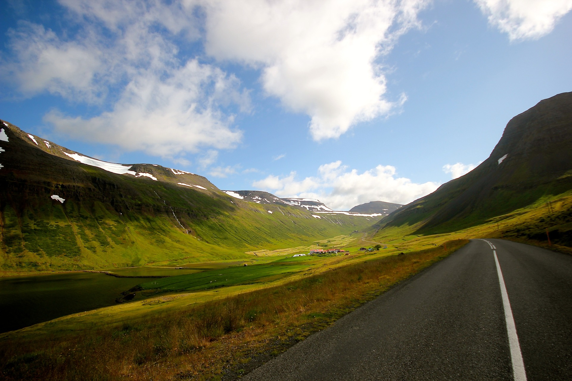 road through valley in Iceland