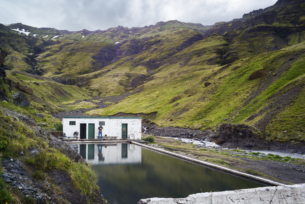 Seljavallalaug swimming pool in Iceland