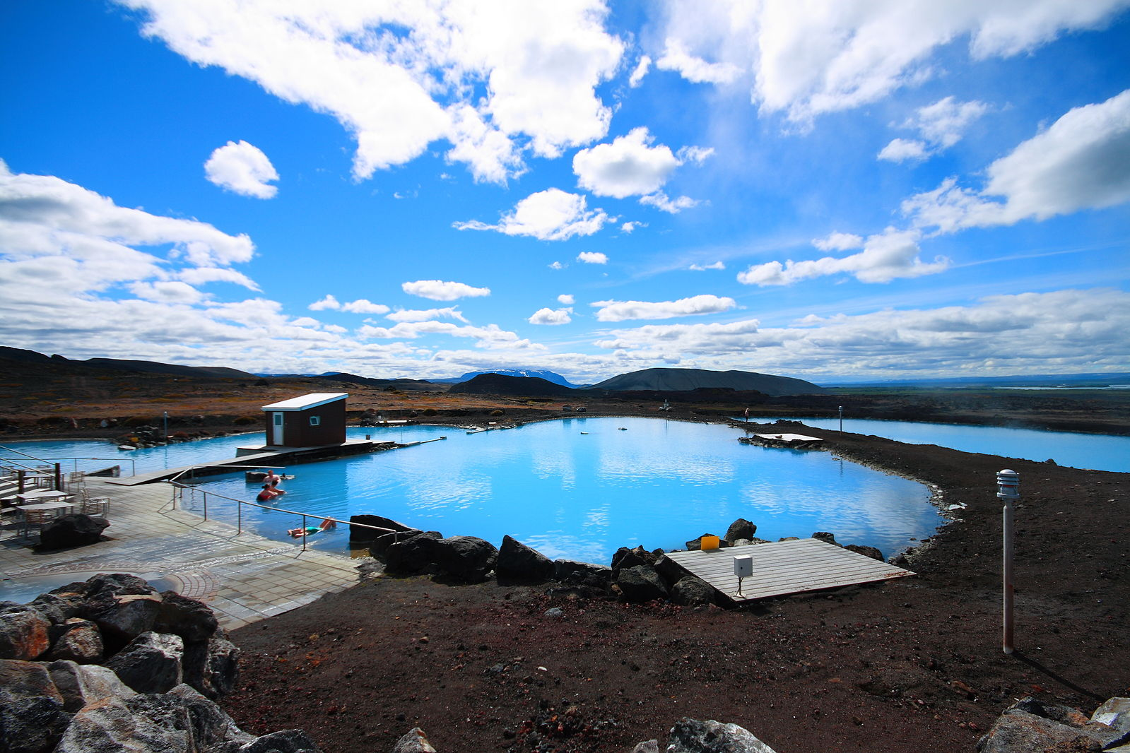 Blue lagoon, Mývatn, north, Iceland, pools