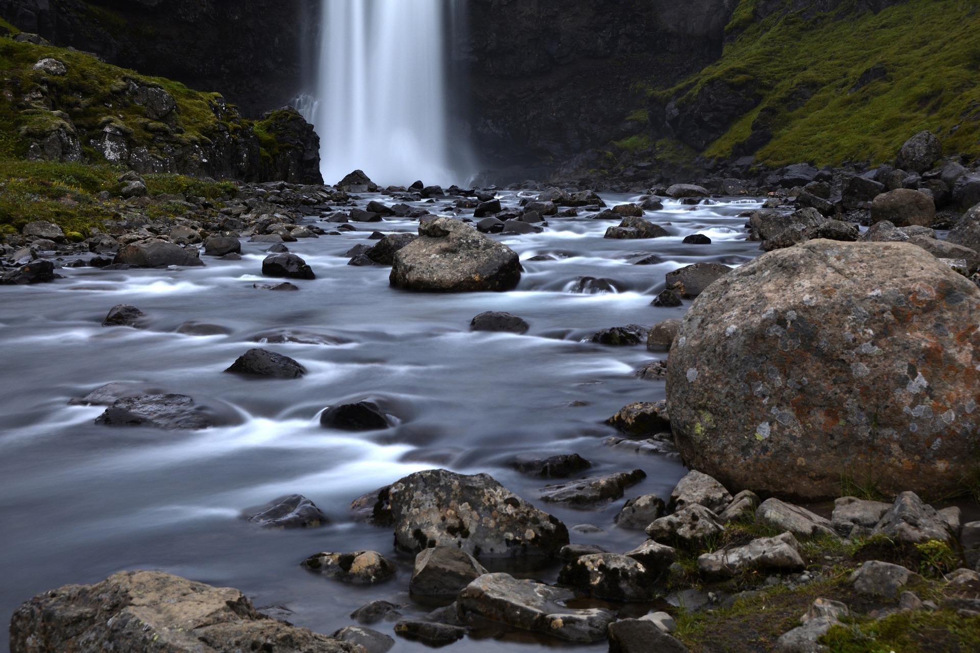 Seyðisfjörður Waterfall Iceland