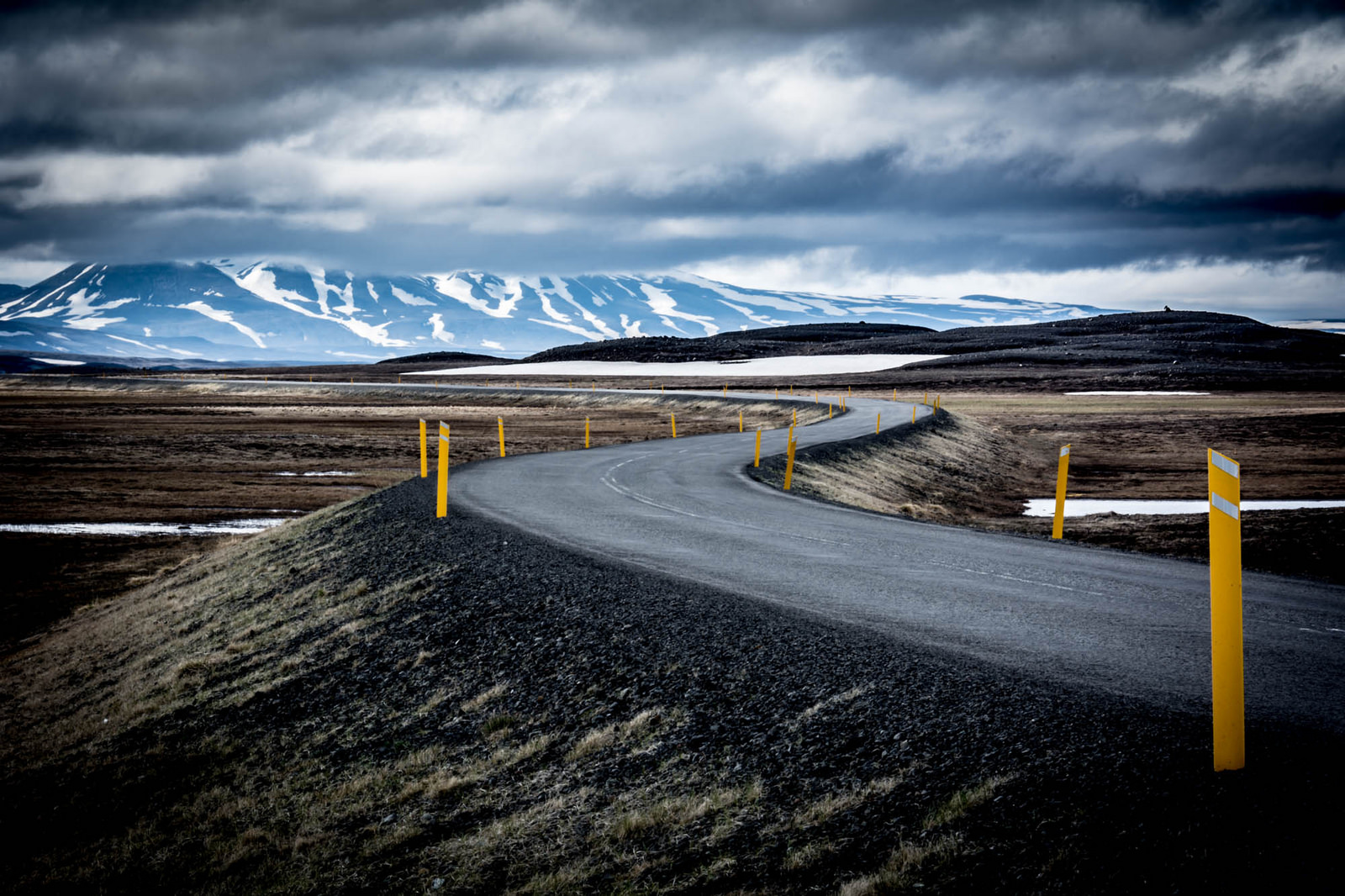 road in Iceland winter time