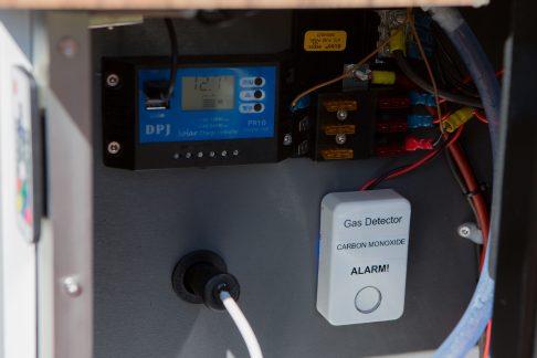 gas detector inside camper