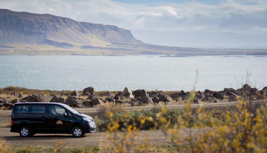 Cozy camper at Icelandic fjord