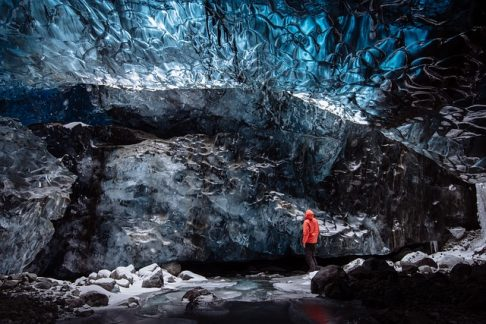 Blue ice cave in Iceland