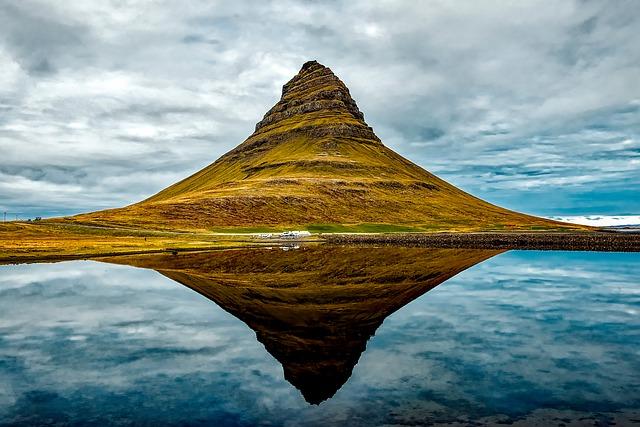 Freedom in Iceland - mount Kirkjufell