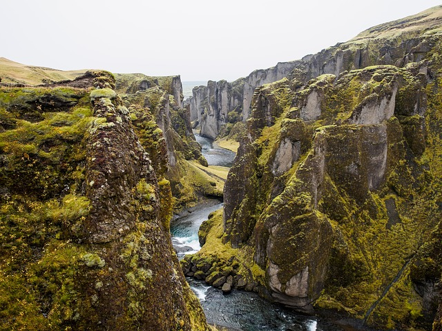 Tectonic plates meet in Iceland