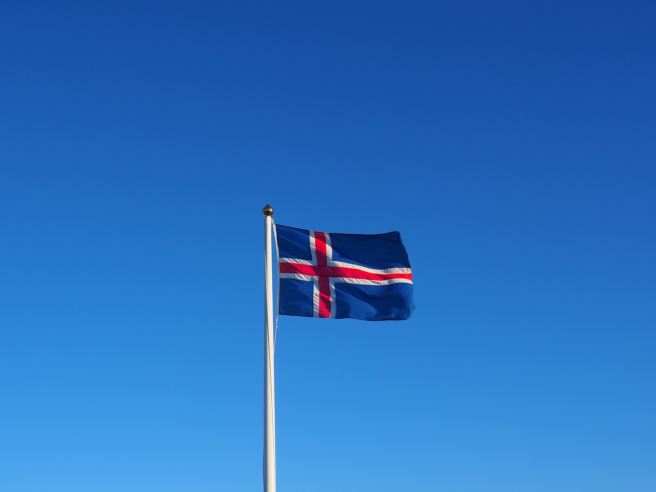 Icelandic flag on June 17th - independence day