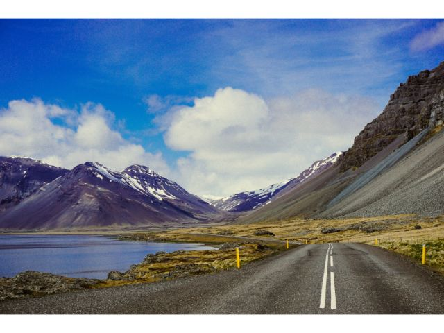The road to camping in Iceland