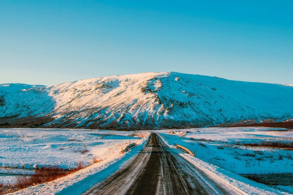road in Iceland in winter
