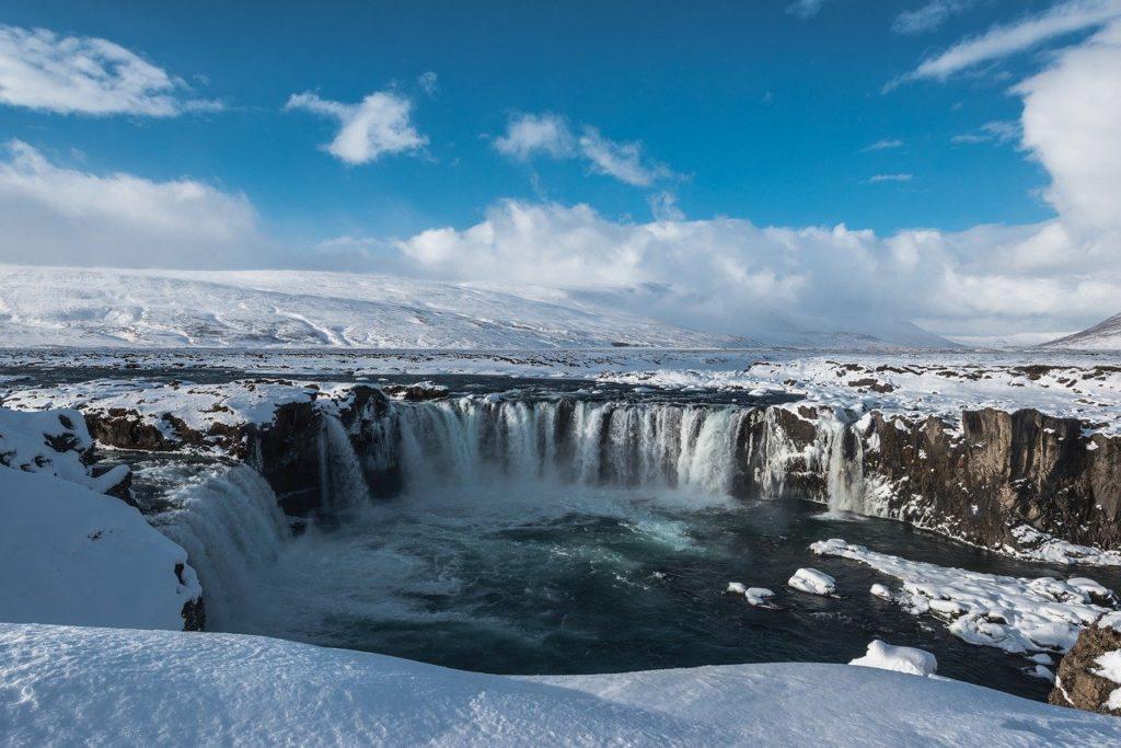 Iceland waterfall Goðafoss