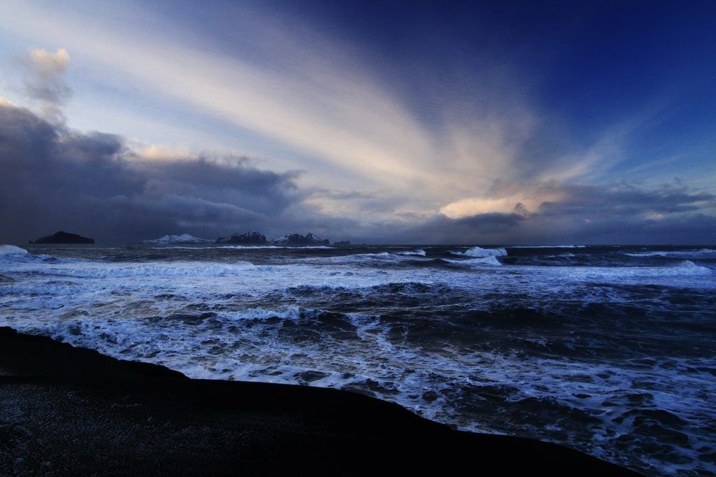 Iceland stormy bay