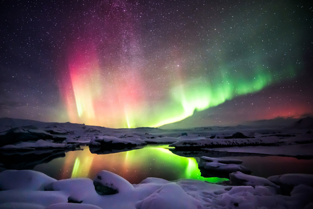 Northern Lights in Ásbyrgi